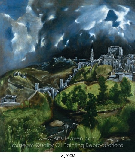 El Greco, View of Toledo oil painting reproduction