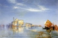 View of Venice painting reproduction, Thomas Moran