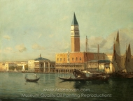 View of Venice painting reproduction, Antoine Bouvard