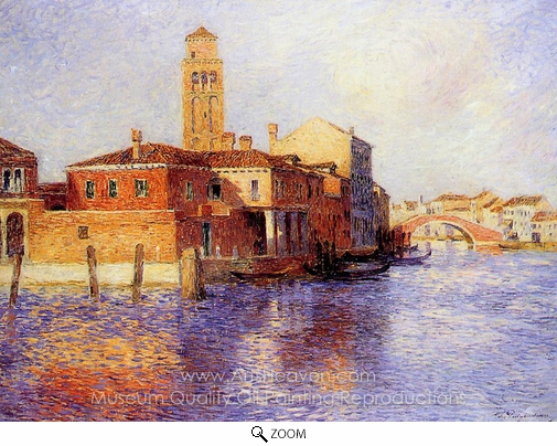 Ferdinand Du Puigaudeau, View of Venice (Murano) oil painting reproduction
