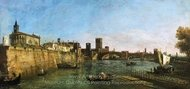 View of Verona with the Castelvecchio and Ponte Scaligero painting reproduction, Bernado Bellotto