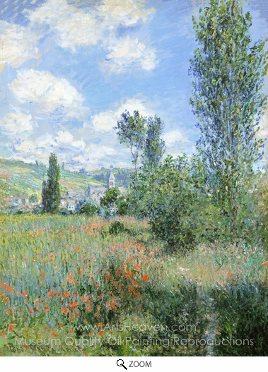 Claude Monet, View of Vetheuil oil painting reproduction