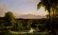 View on the Catskill, Early Autumn painting reproduction, Thomas Cole
