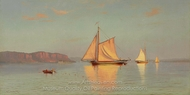 View on the Hudson painting reproduction, Francis Augustus Silva