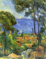 View through Trees of L'Estaque painting reproduction, Paul Cézanne
