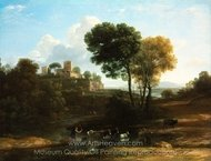 Villa in the Roman Campagna painting reproduction, Claude Lorraine