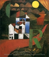 Villa R painting reproduction, Paul Klee