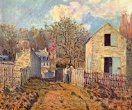 Village de Voisins painting reproduction, Alfred Sisley