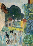 Village Scene, Grasse painting reproduction, Pierre Bonnard