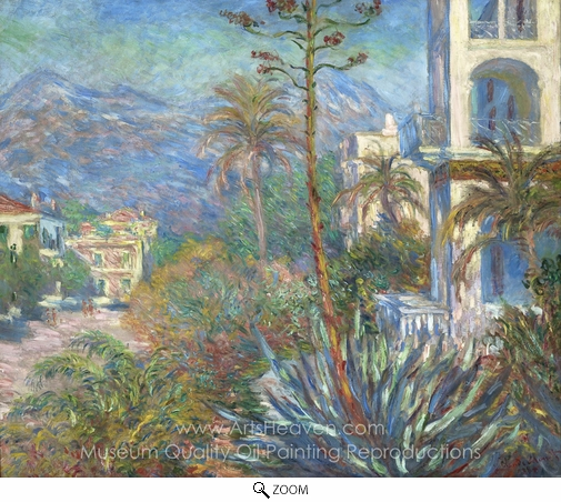 Claude Monet, Villas at Bordighera oil painting reproduction