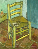 Vincent Chair with His Pipe painting reproduction, Vincent Van Gogh
