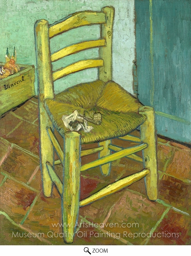 Vincent Van Gogh, Vincent Chair with His Pipe oil painting reproduction