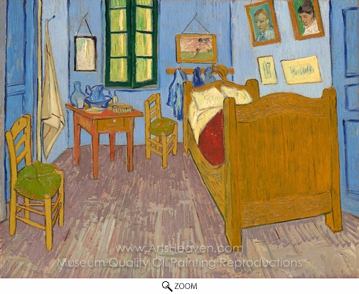 Vincent Van Gogh, Vincent Room at Arles (The Bedroom) oil painting reproduction