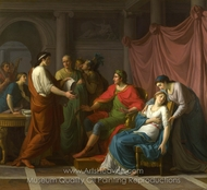 Virgil Reading the Aeneid to Augustus and Octavia painting reproduction, Jean-Joseph Taillasson