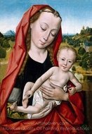 Virgin and Child painting reproduction, Dieric Bouts