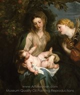 Virgin and Child with Saint Catherine of Alexandria painting reproduction, Sir Anthony Van Dyck