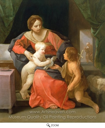 Guido Reni, Virgin and Child with Saint John the Baptist oil painting reproduction