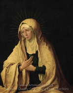 Virgin Mary painting reproduction, Lucas Van Leyden