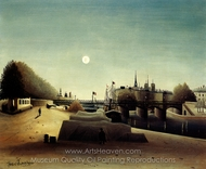 Vue de L'Isle Saint Louis painting reproduction, Henri Rousseau