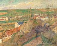 Vue sur le Village d'Osny painting reproduction, Camille Pissarro