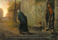 Waiting painting reproduction, Jean-Francois Millet