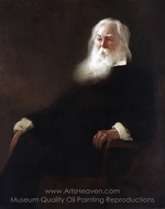 Walt Whitman painting reproduction, John White Alexander