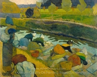 Washerwomen painting reproduction, Paul Gauguin