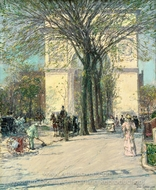 Washington Arch, Spring painting reproduction, Childe Hassam