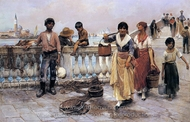 Water Carriers, Venice painting reproduction, Frank Duveneck