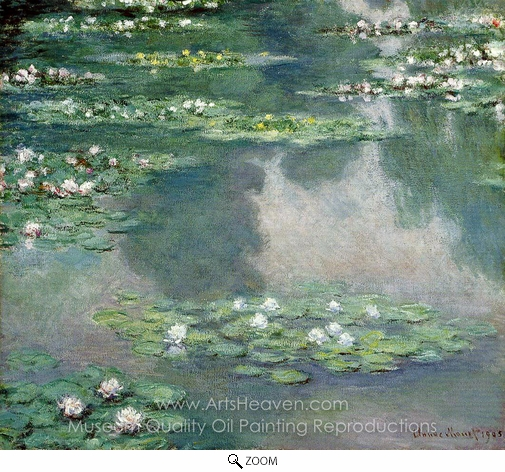 Claude Monet, Water Lilies 1905 oil painting reproduction