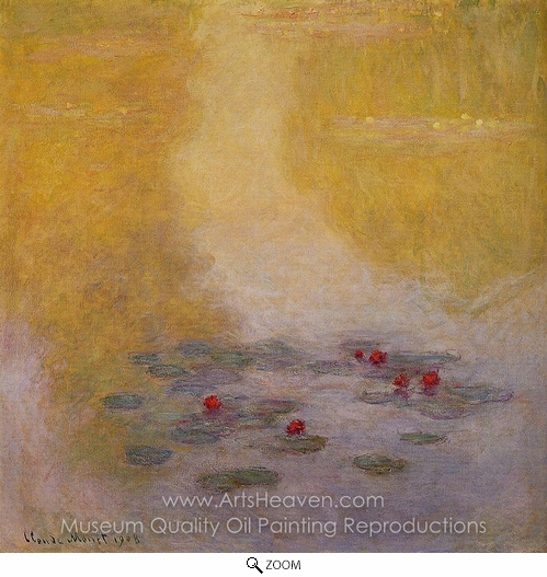 Claude Monet, Water Lilies 1908 oil painting reproduction
