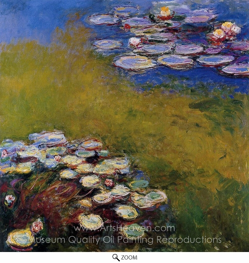 Claude Monet, Water Lilies 1914-17 oil painting reproduction