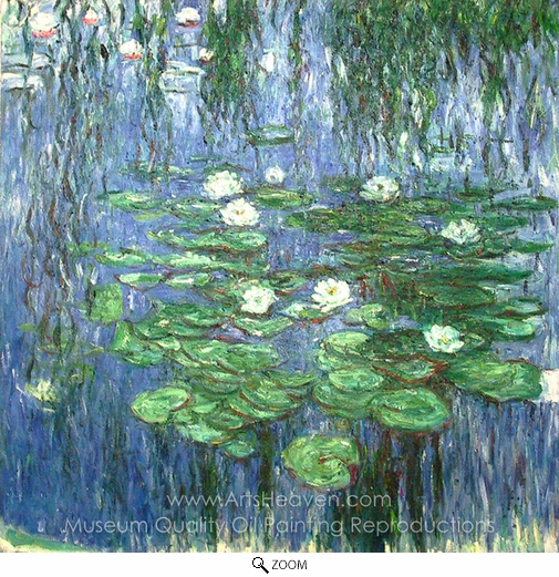 Claude Monet, Water Lilies 1914-19 oil painting reproduction