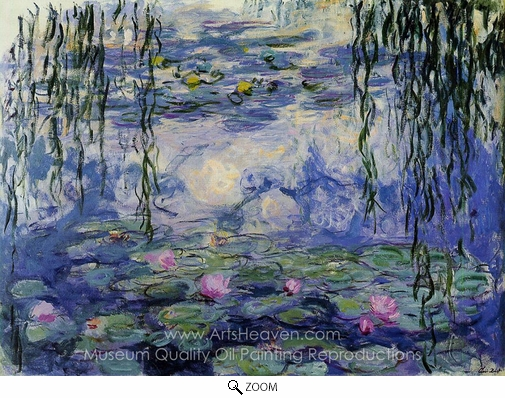 Claude Monet, Water Lilies 1916-19 oil painting reproduction