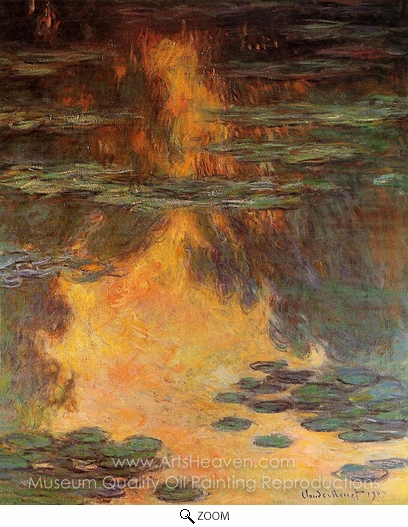 Claude Monet, Water Lilies oil painting reproduction