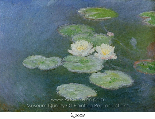 Claude Monet, Water Lilies, Evening Effect oil painting reproduction