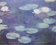 Water Lilies, Pink painting reproduction, Claude Monet
