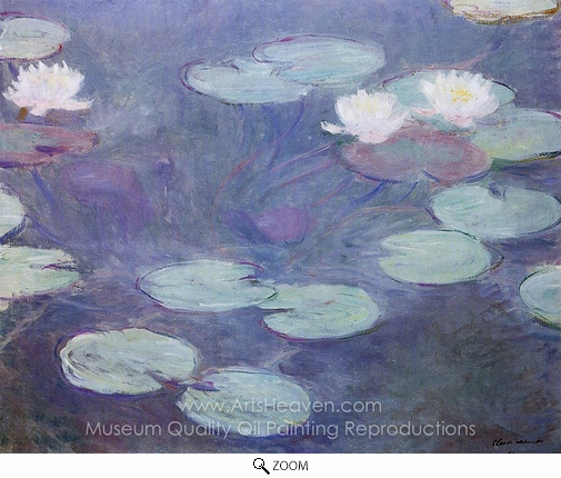 Claude Monet, Water Lilies, Pink oil painting reproduction