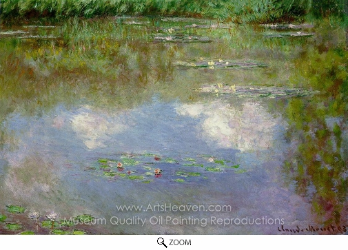 Claude Monet, Water Lilies, the Clouds oil painting reproduction