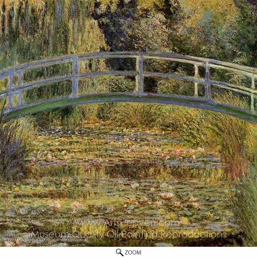 Claude Monet, Water-Lily Pond oil painting reproduction