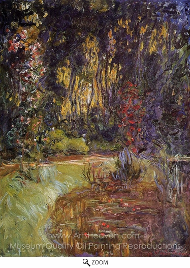 Claude Monet, Water-Lily Pond at Giverny oil painting reproduction