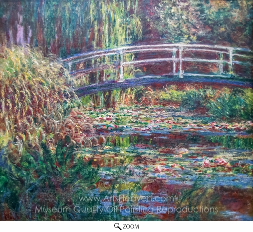 Claude Monet, Water-Lily Pond, Symphony in Rose oil painting reproduction