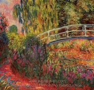 Water-Lily Pond, Water Irises painting reproduction, Claude Monet