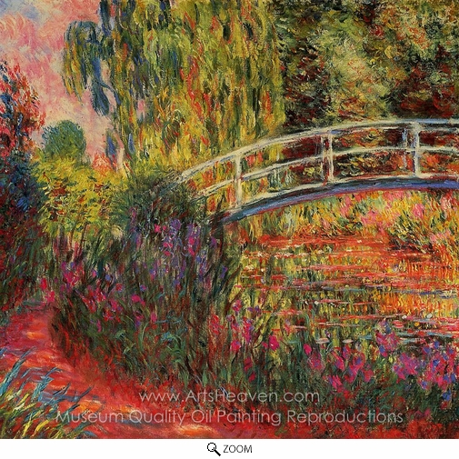 Claude Monet, Water-Lily Pond, Water Irises oil painting reproduction