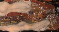 Water Serpents II painting reproduction, Gustav Klimt