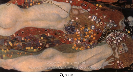 Gustav Klimt, Water Serpents II oil painting reproduction
