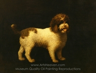 Water Spaniel painting reproduction, George Stubbs