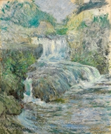 Waterfall painting reproduction, John Henri Twachtman
