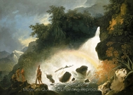 Waterfall in Dusky Bay painting reproduction, William Hodges