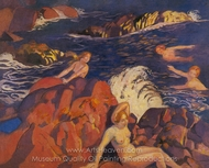 Waves painting reproduction, Maurice Denis